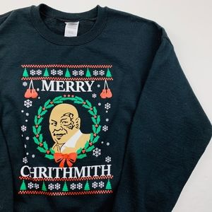 Mike Tyson Merry Chrithmith Christmas Sweatshirt